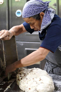 2015年8月14日 パン工房での作業風景